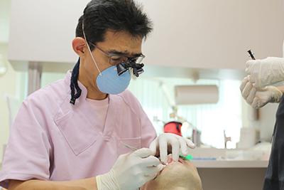 3.診査・診断 / 今使用している入れ歯の調整